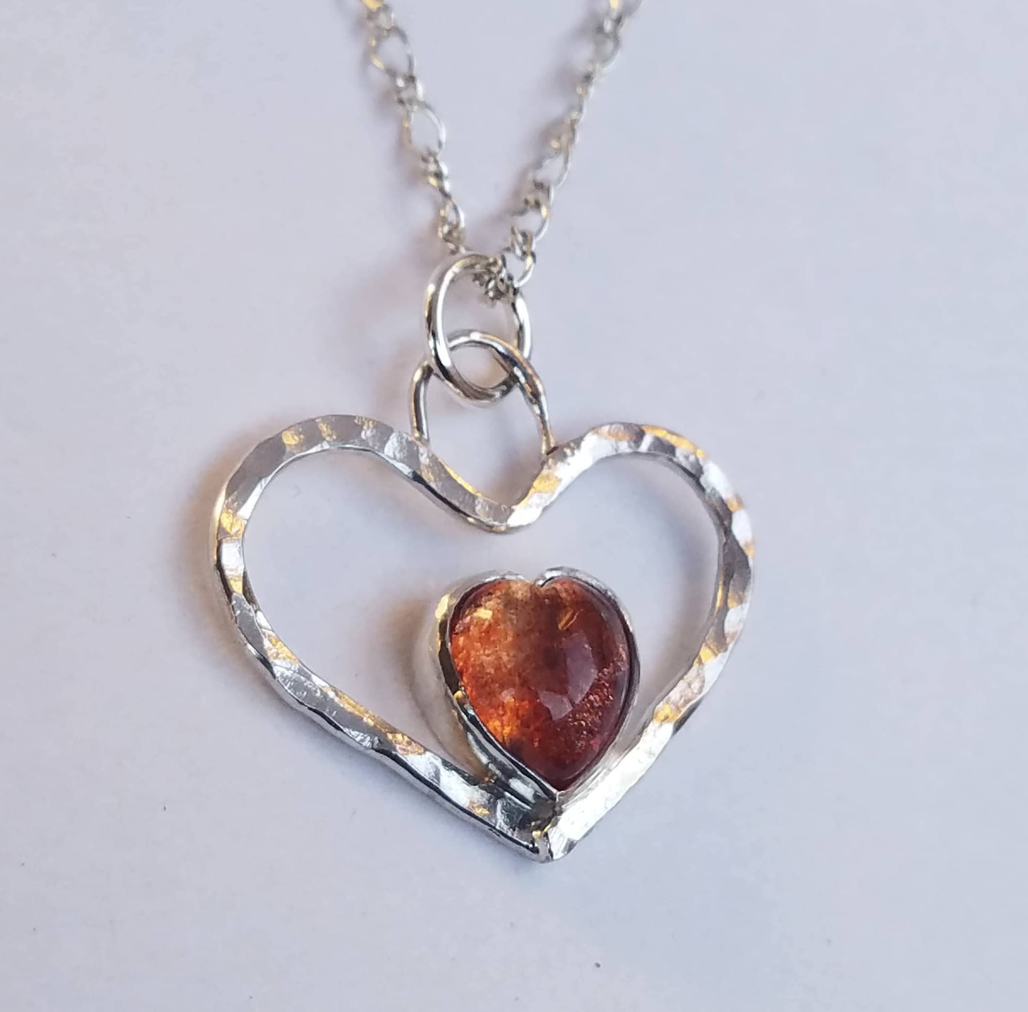 brilliant sterling diamond round oregon necklace silver pendant pin sunstone chain