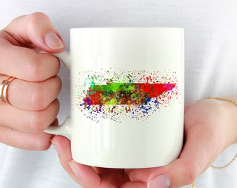 Tennessee Pride Coffee Mug. Watercolor Splatter. Coffee Lover. Gift for TN Native. Rocky Top. Go Vols. Volunteer State. Nashville Local