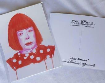 Yayoi Kusama Postcard