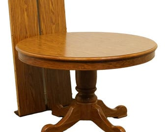 diningroom american dining traditional tables pedestal round amish table oak made