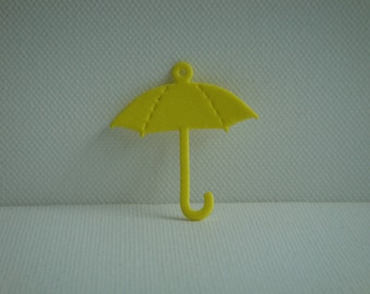 Cut out pendant umbrella yellow foam for creating jewelry, keychain...