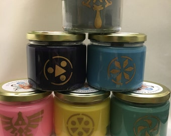 Legend of Zelda: Ocarina of Time Inspired Candle Set WITH Charms Inside!