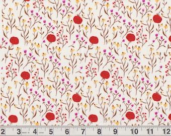 "Windham Fabrics 2008 Far Far Away Heather Ross #39659 | red roses | Fat Quarter 18"" x 22"" pre-cut"
