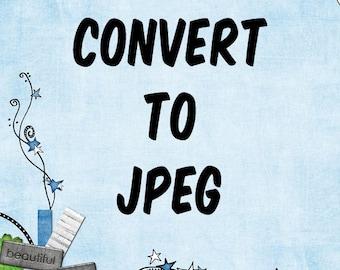 Convert to JPEG