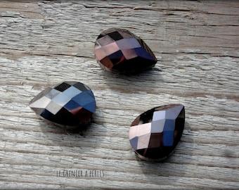 Pearl drop 25 mm Dark Bronze