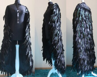 READ item DESCRIPTION !! Made to order. Feather cloak