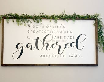 Gather Sign Dinning Room Oversized Large Dining Greatest