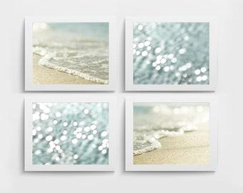 Nautical print set of 4 ocean photography beach prints, beach decor nautical decor seascape printable wall art digital download digital art
