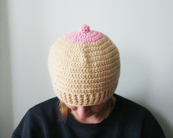 Boob Hat, boobie cap, Breast Cancer Awareness hat, breast cancer gift, cancer survivor hat, Cancer hat for adults
