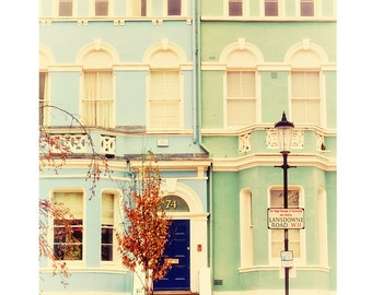 """London photography, London colorful houses, Notting Hill - """"Pastel London"""""""