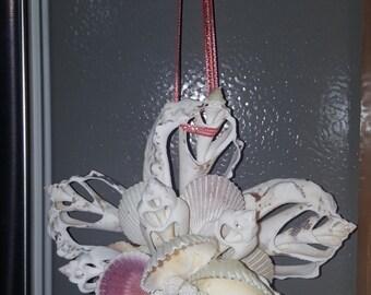 5Layer Sliced Shell Window Ornament OOAK