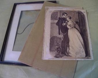 possible napoleon  and josephine? photo print?