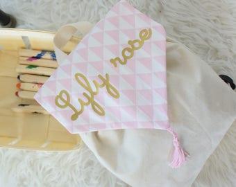 sac a dos enfant, personnalisé,  pour la maternelle, crèche, nounou, en tissus, idée cadeau enfant