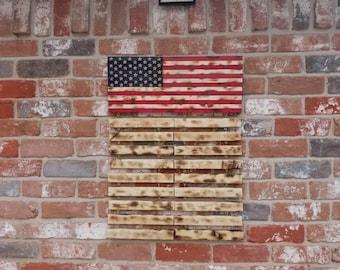Children's, US burnt wood flag
