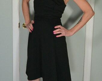 60s Halter dress// Vintage Polyester Dress// Vintage Summer Halter Dress (F1)