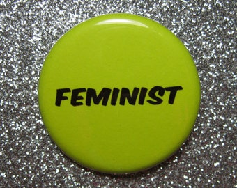 Feminist pin, feminist gift, girl power pin