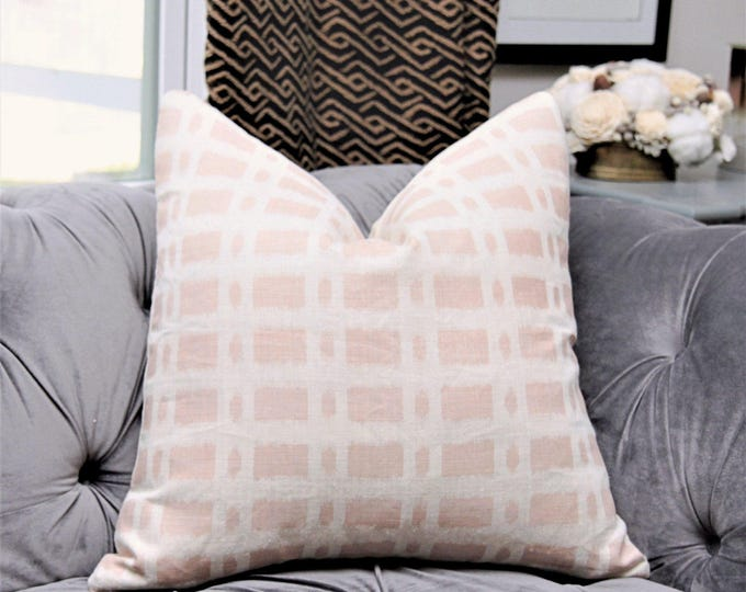 Schumacher Pillow Cover - Blush Pink Pillow Cover - Veere Greeney Collection - English Printed Romantic Home Decor
