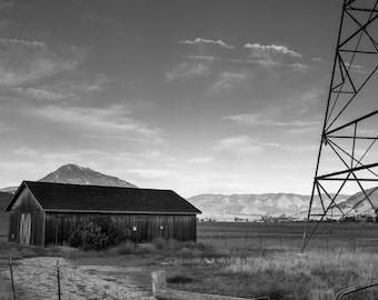 B & W Barn Photograph