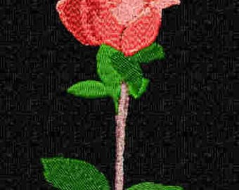 EXCLUSIVE~> Digitized from a Photo~> Rose for 5x5 Hoops, Digital Machine Embroidery Design, Available for Immediate Download
