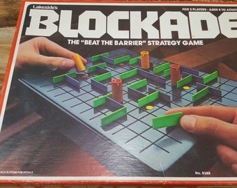 Blockade, 1979, Lakeside game, vintage game, vintage board game