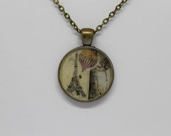 Paris Eiffel Tower Pendant Bronze Necklace
