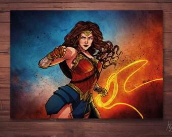 A4 - Wonder Woman print
