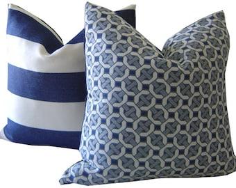 Navy Outdoor Pillow - Navy Pillow - Outdoor Pillow - Decorative Pillow - Sunbrella Pillow - Outdoor Toss Pillow - PILLOW COVER ONLY
