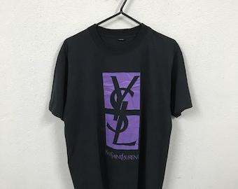 Vintage YVES Saint Laurent Big Logo T Shirt