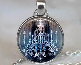 Gothic Chandelier pendant, romantic Goth jewelry French chandelier gift for lighting designer lighting architect key chain key ring key fob