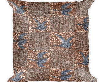 Nalwanga African inspired wax printSquare Pillow