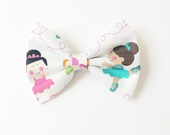 Ballerina, ballerina bow, dancing bow, colorful bow, toddler bow, baby accessories, hair accessories