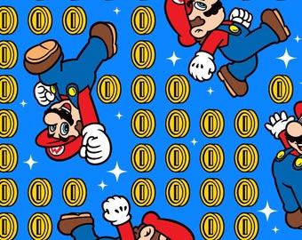 Nintendo Super Mario Coin Cotton fabric