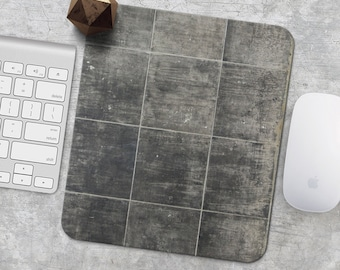 Marble Mouse Pad Mousepad Gray Marble Print Mouse Mat Mouse Pad Mens Gift Office Mousemat Rectangular Mousemat Marble Print Mousepad Round