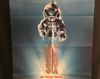 Original 1989 Deep Star Six One Sheet Movie Poster, Horror, Alien, Taurean Blacque, Sea