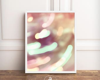 Bokeh Photography, Instant Download, Abstract photography, printable poster, digital download, nursery art, printable photography