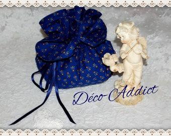 Provençal cotton Navy Blue purse