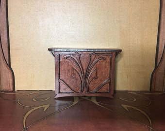 Art Nouveau miniature  1/12 scale wooden sideboard