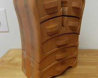 Cherry Wood Jewelry Box