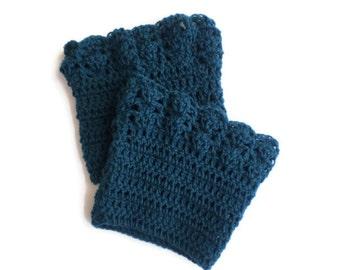 Boot cuffs crochet women's winter leg warmers knit crochet boot cuffs legwear accessories for boots