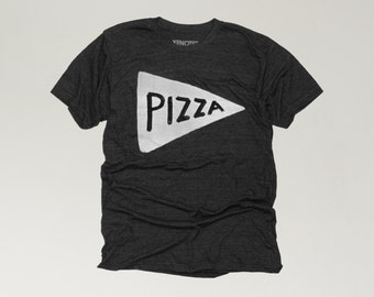 Black Pizza Shirt, man graphic tee, funny mens shirt, Fathers Day Gift, husband gift, gift from kids, dad t-shirt, pizza tshirt, pizza night