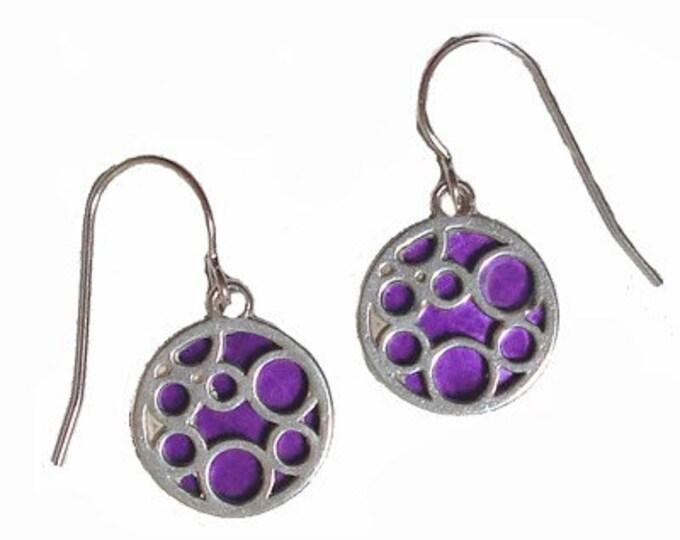 small purple round bubble earrings