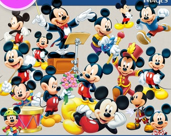 MICKEY MOUSE clipart png images, Digital Cliparts, Stickers, Decals, Png file, Transparent Backgrounds, digital print, printable images