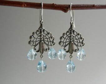 Blue Topaz Muireann Earrings