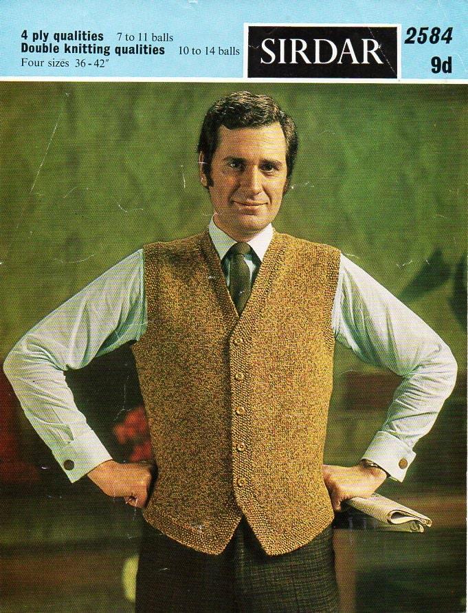 mens knitting pattern pdf download mens waistcoat knitting