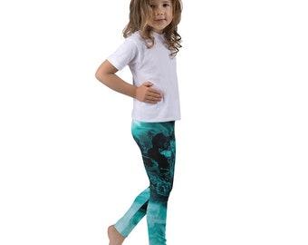 "Kid's leggings ""Blue Flame"""