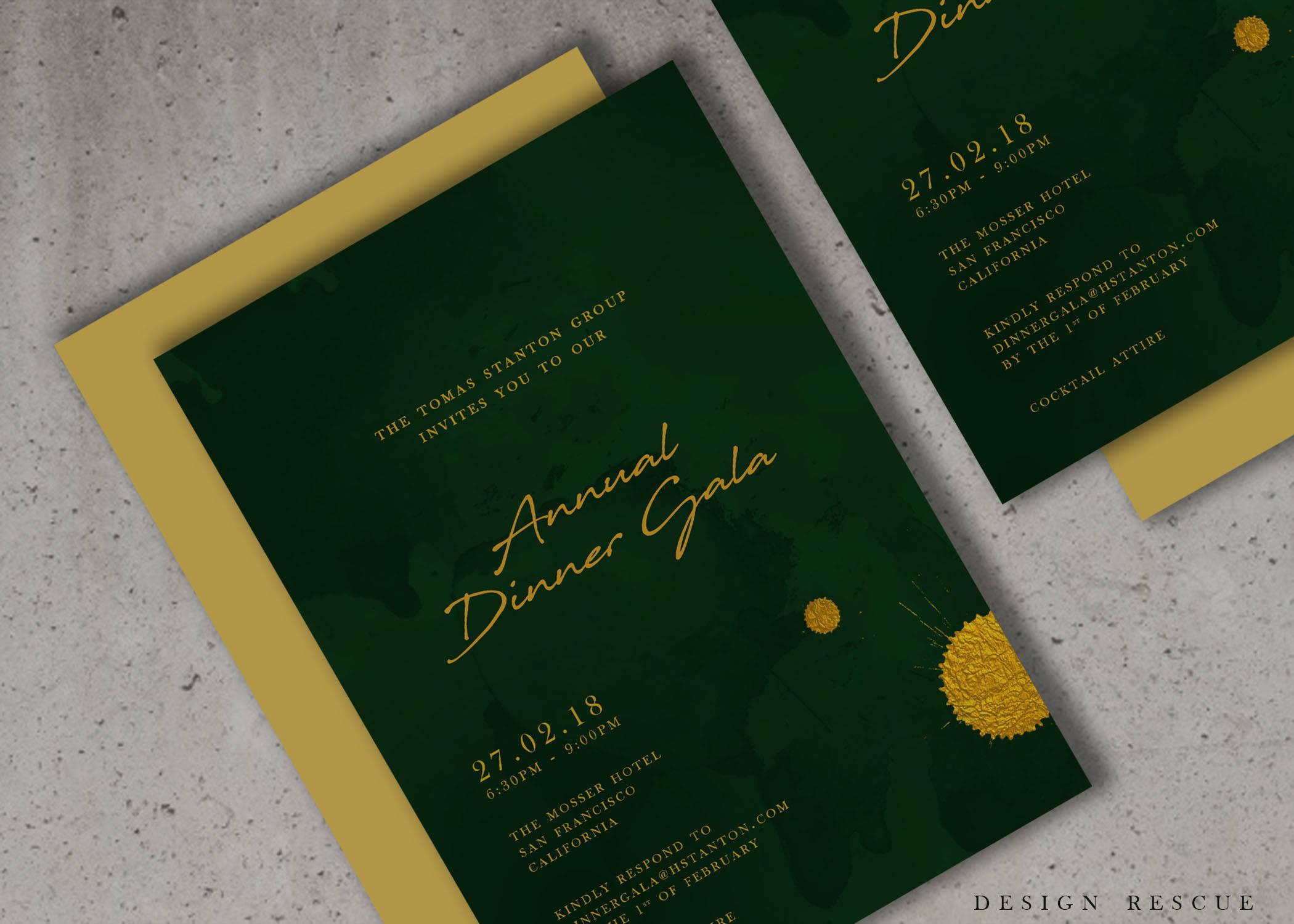 Event-Einladung-Design Unternehmen Einladungen