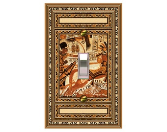 1115X - Egyptian King Tut switch plate cover - mrs butler switchplates - choose sizes / prices from drop down box