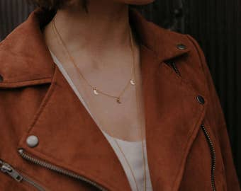 Gold Filled Moon Necklace