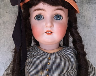 Antique Armand Marseille Queen Louise doll, German bisque head doll