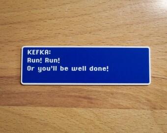 Kefka - Run! Run! - Final Fantasy VI Dialog Box